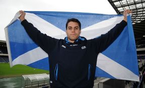 Former New Zealand rugby player Sean Maitland now plays under the Scottish flag.