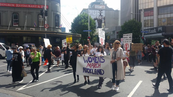 Women's march in Auckland.