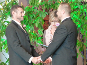 Paul McCarthy and Trent Kandler were among the first same-sex couples to wed.