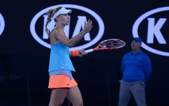 Angelique Kerber during her loss to American Coco Vanderweghe at the Australian Open.