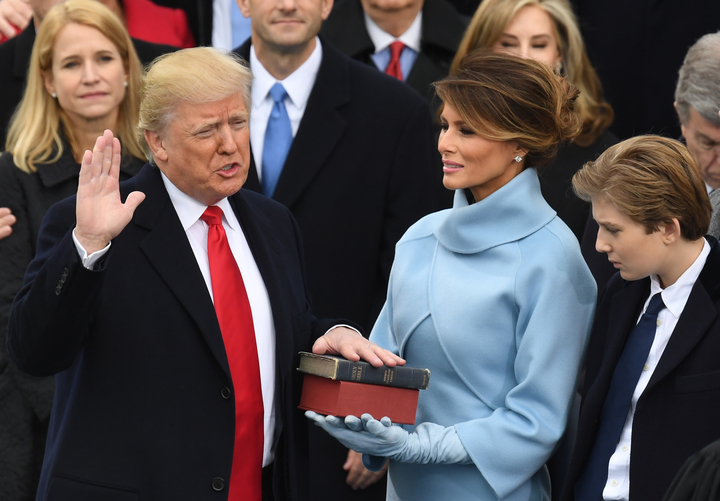 Donald Trump is sworn in as 45th President of the United States.