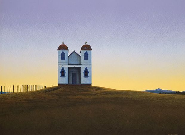 Steve Harris' painting of Ratana Church