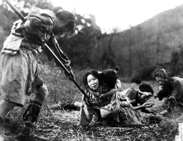 Kinuyo Tanaka as Miyagi, the farmer/potter's wife – killed by soldiers with her son still on her back.