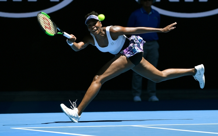 Venus Williams during the 2017 Australian Open