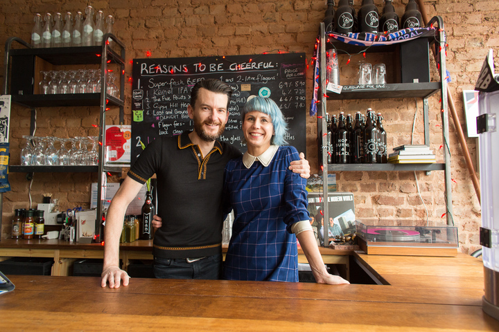 Jen Ferguson and Glenn Williams who run Hop Burns and Black in South London