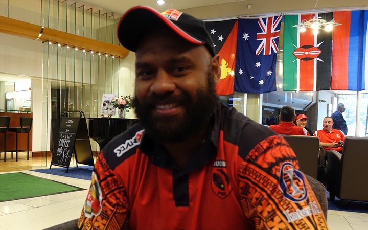 Papua New Guinea sevens coach Dougie Guise.