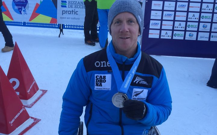 New Zealand sit skier Corey Peters (New Plymouth) has earned a silver medal in Downhill at the 2017 World Para Alpine Skiing Championships in Italy.