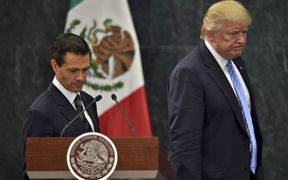 Enrique Pena Nieto and Donald Trump in August last year.