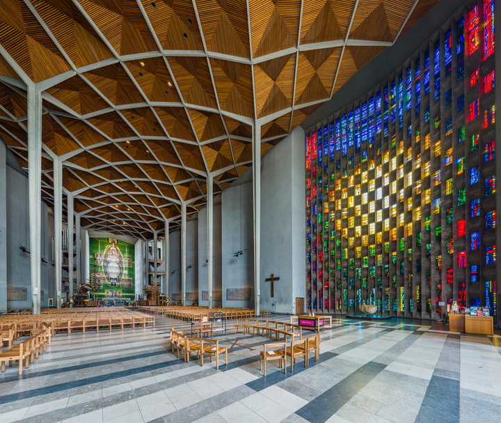 Coventry Cathedral Interior, West Midlands, UK