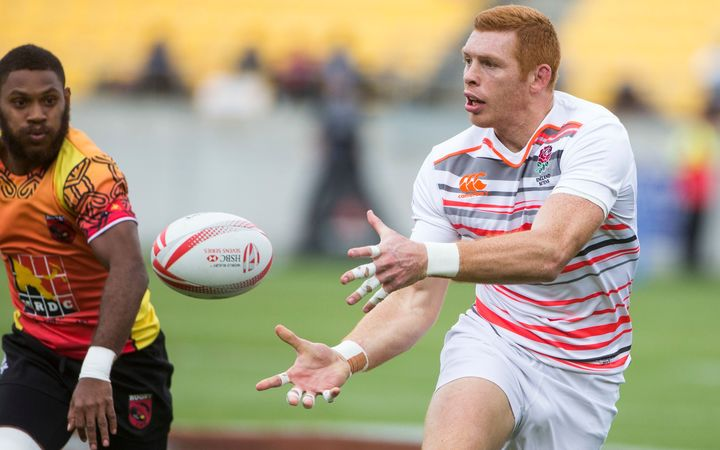 Papua New Guinea take on England at the Wellington Sevens.
