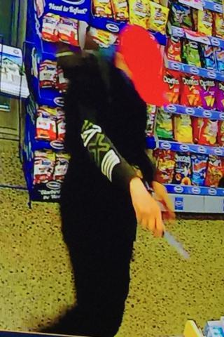Police released this picture after a man robbed a service station in Christchurch last night.