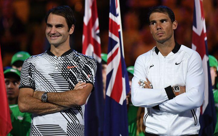 Roger Federer and Rafael Nadal 2017 Australian Open.