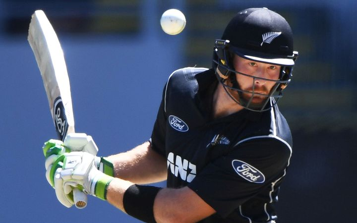 Martin Guptill evades a short pitched delivery during his innings of 61 in the opening Chappell-Hadlee ODI.