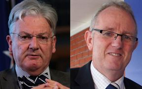 Peter Dunne (left) and Greg O'Connor.