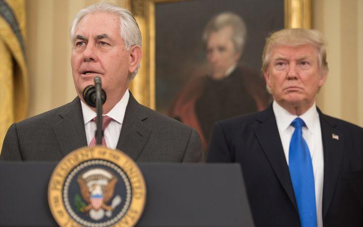 Trump cabinet: Tillerson sworn in as top US diplomat | Radio New ...