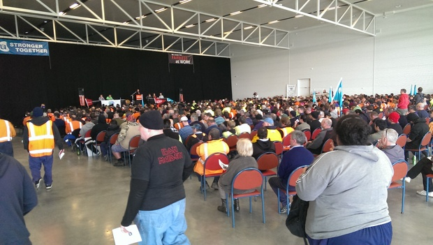One thousand Christchurch workers gather to oppose Employment Relations Amendment Bill