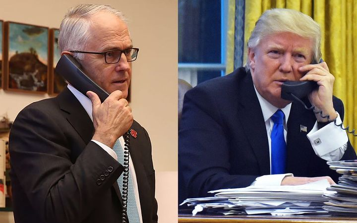 Australian Prime Minister Malcolm Turnbull  (left) and US President Donald Trump.