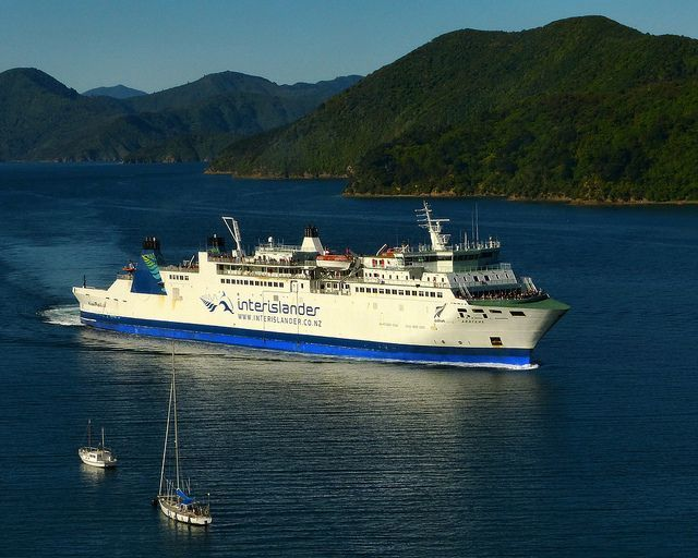 Approaching Picton The Interislander Ferry Aratere in Queen Charlotte Sound