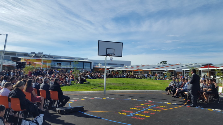 The Haeata Community Campus opened today, with 950 students signed up for the new school.