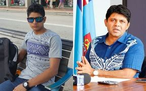 Loghman Sawari (left) has been deported from Fiji by Attorney General Aiyaz Sayed-Khaiyum.