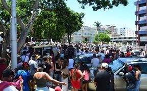 Two thousand people rallied outside the French High Commission in New Caledonia on Friday over the lack of security south of Noumea.