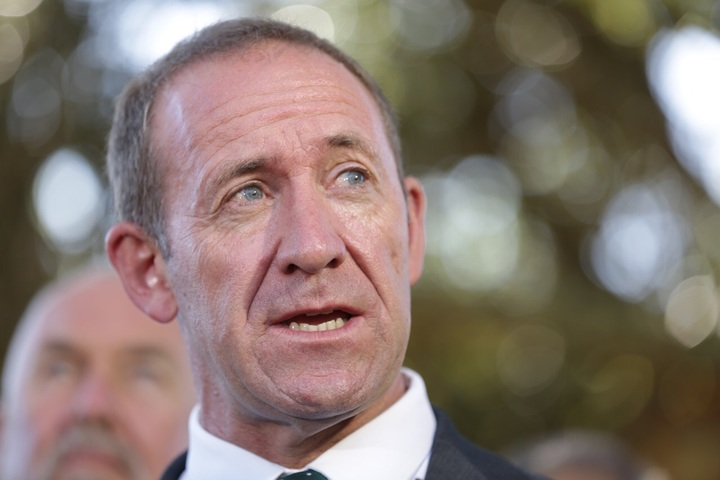 Andrew Little said it was not every day there was an opportunity to talk about Donald Trump's tweets with someone who was so close to the president. Photo: RNZ / Claire Eastham-Farrelly