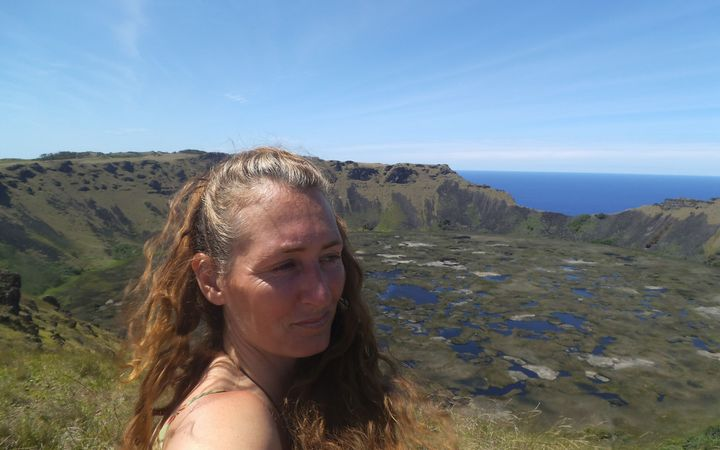 Lisa Allan during her five week stay on Rapa Nui
