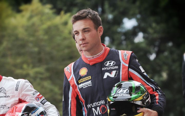 New Zealand rally driver Hayden Paddon.
