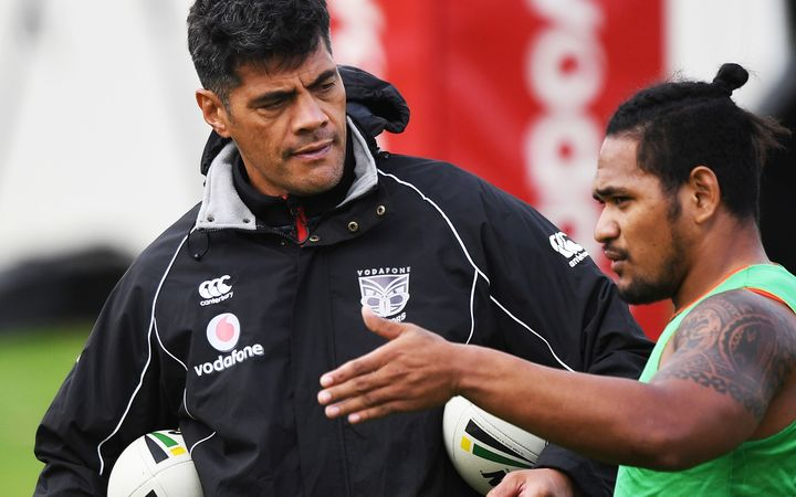 Warriors coach Stephen Kearney (left) is demanding a much improved effort from his charges ahead of two NRL trial games.