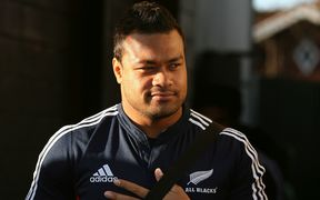 Sione Lauaki at an All Blacks training in Christchurch in 2008.