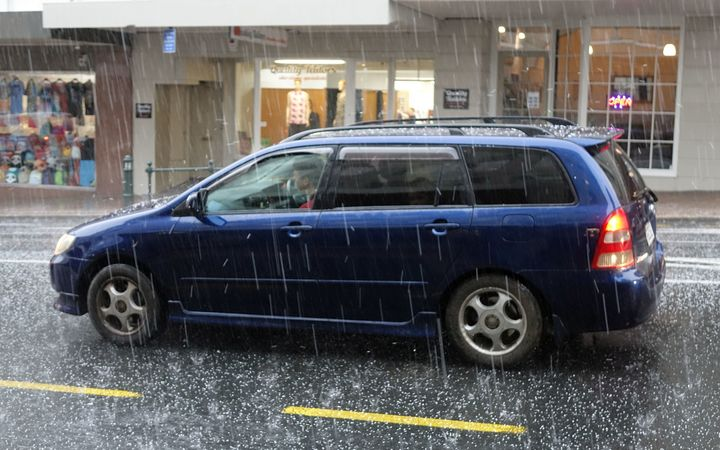Dunedin was hit by a hail storm in the middle of summer.