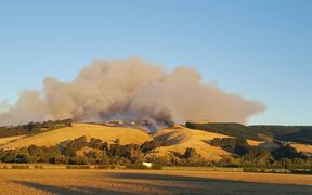 The fire on the Port Hills above Christchurch.