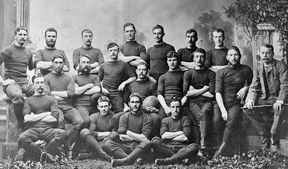 The New Zealand Rugby team which toured New South Wales in 1884.