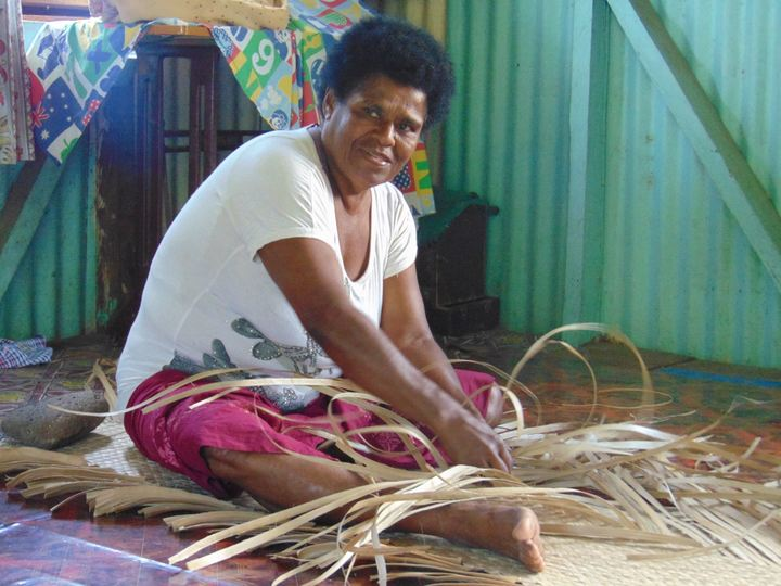 Women in Nakorotubu district, Fiji, use weaving to boost incomes after Cyclone Winston which damaged homes and ruined livelihoods in the area.