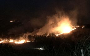 The Port Hills fire at 5.30am on Thursday.