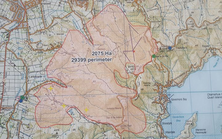 Hills Fire Map.Port Hills Fire In Pictures Rnz News