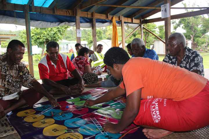 Villagers on badly hit Koro Island take part in activities to improve their well being after Cyclone Winston