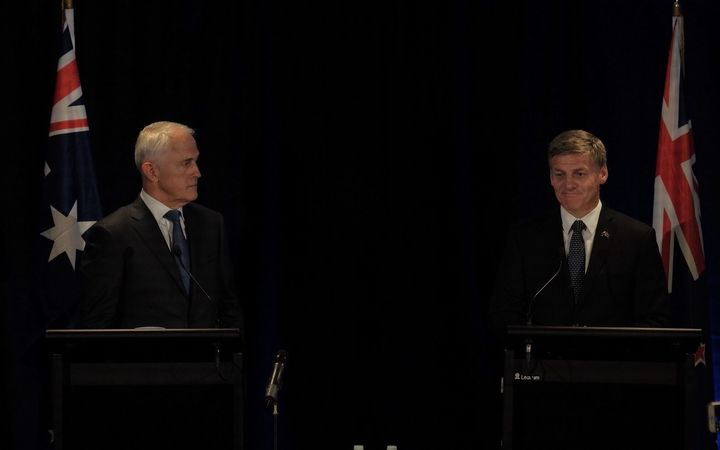 Australian Prime Minister Malcolm Turnbull  and NZ PM Bill English.