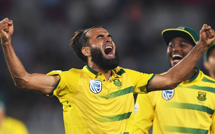 Imran Tahir took 5-24 as he helped South Africa to victory over the Black Caps.