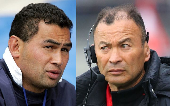Eddie Jones (right) has been a villain for NZ rugby fans, but perhaps they should be watching Pat Lam (left).