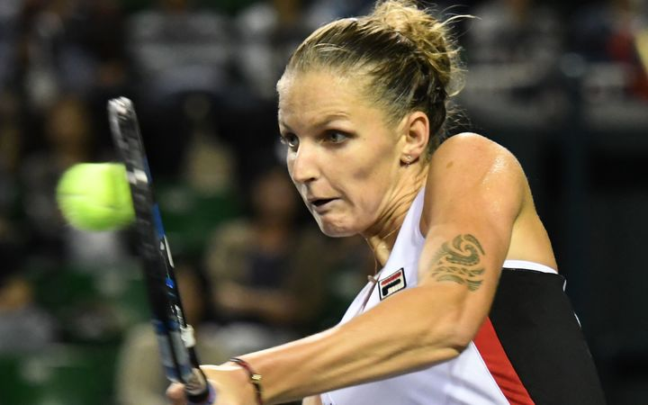 Pliskova beats Wozniacki for first time in Doha WTA final