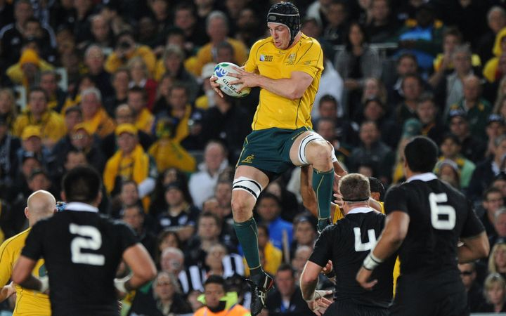 Dan Vickerman during the semi-final of the 2011 World Cup.