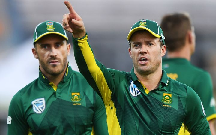 Captain AB de Villiers (right) and Faf du Plessis.