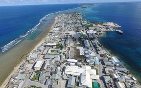 Densely populated Ebeye Island in the Marshall Islands is the focus of a mass screening for tuberculosis