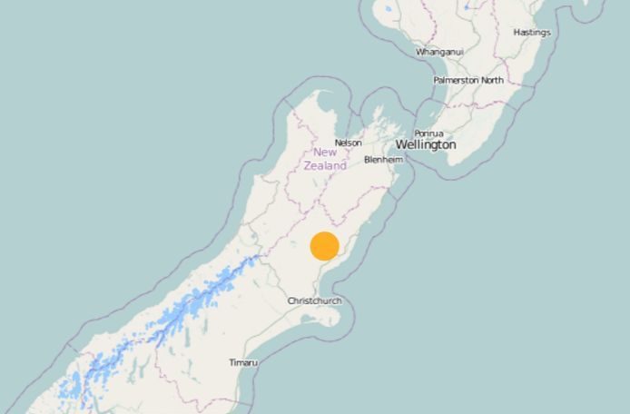 The quake struck 5km north of Culverden.