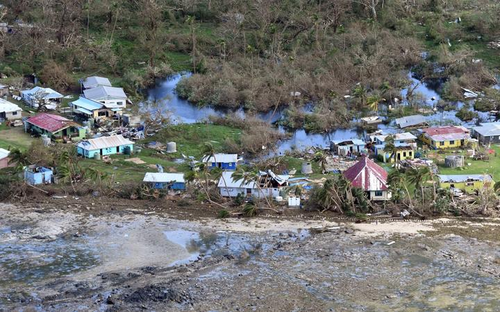 Devastation on a Kadavu coastal village in Fiji from TC Harold