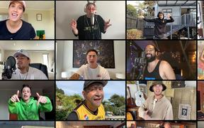 A screenshot of the Stay waiata video.
