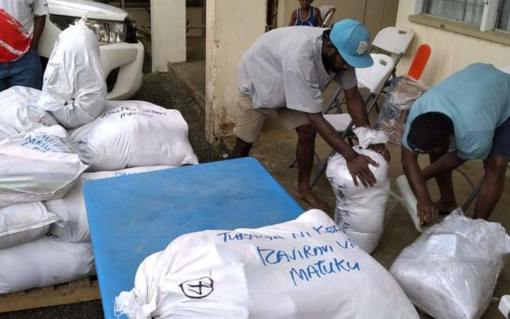 Relief supplies including food rations have been sent to the remote areas of Fiji.