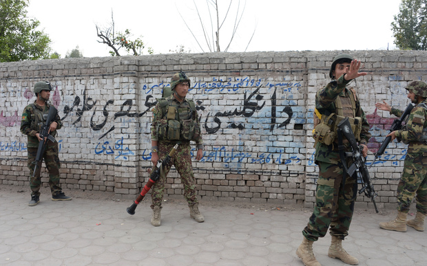 Afghan National Army soldiers in Jalalabad.