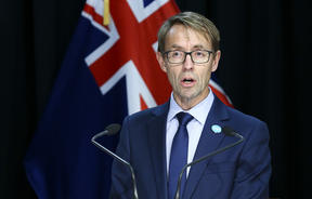 Director-General of Health Ashley Bloomfield during a media conference at Parliament on April 16, 2020 in Wellington, New Zealand.